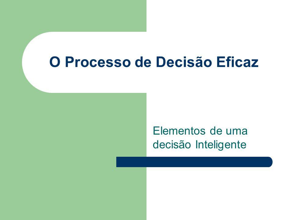 O Processo de Decisão Eficaz