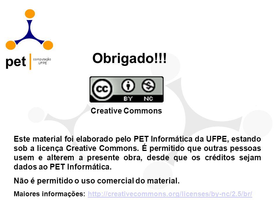 Obrigado!!! Creative Commons