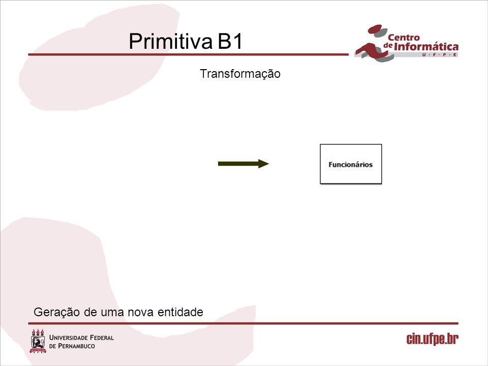 Primitiva B1 Transformação Geração de uma nova entidade