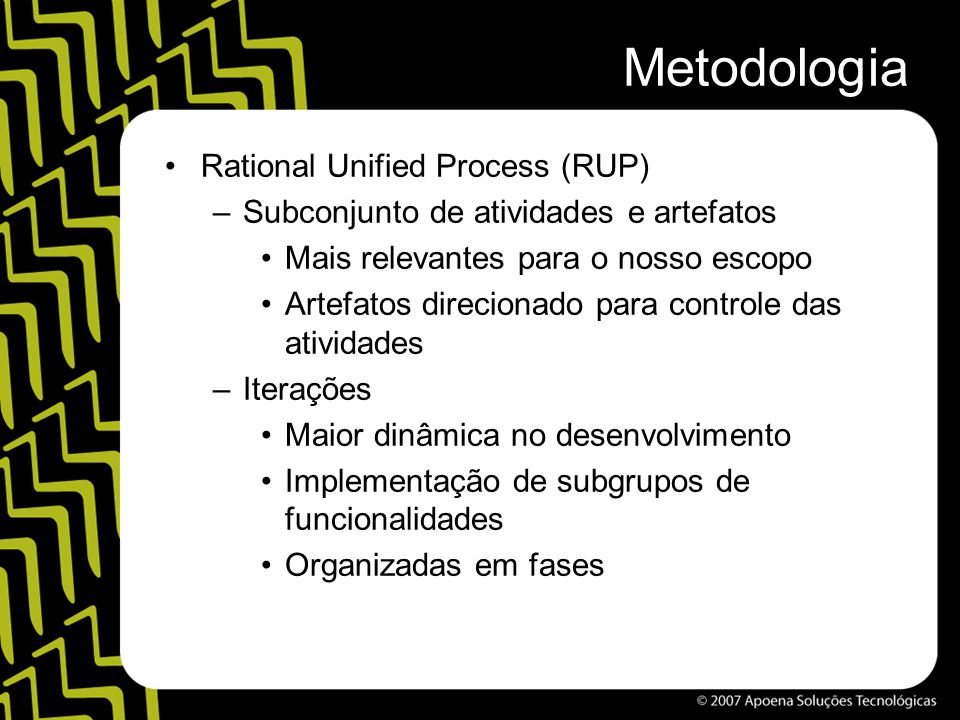 Metodologia Rational Unified Process (RUP)