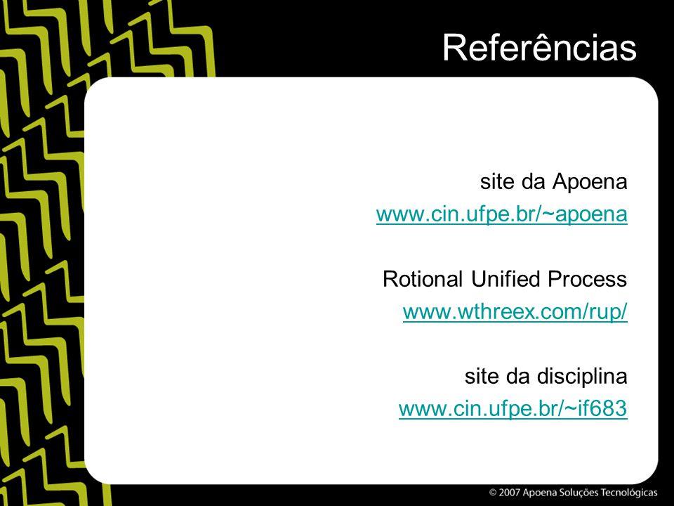Referências site da Apoena www.cin.ufpe.br/~apoena