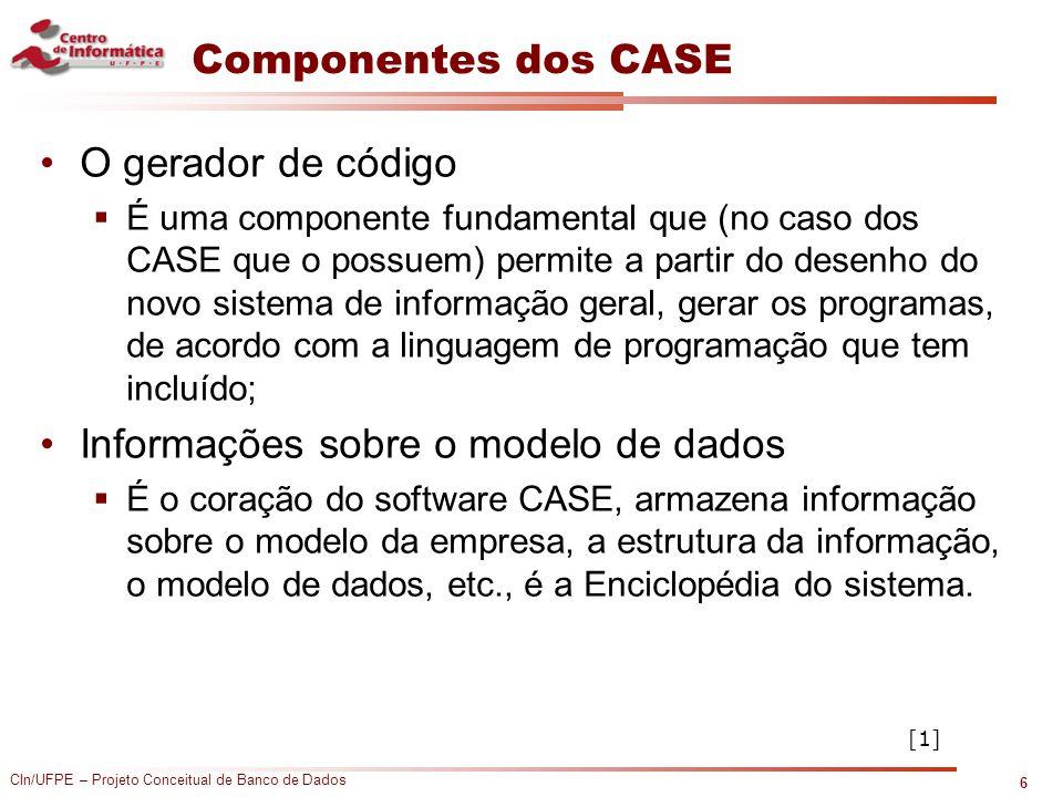 Informações sobre o modelo de dados