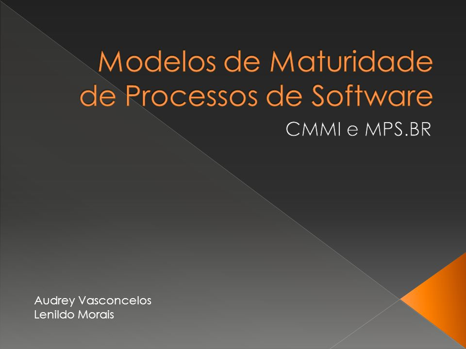 Modelos de Maturidade de Processos de Software