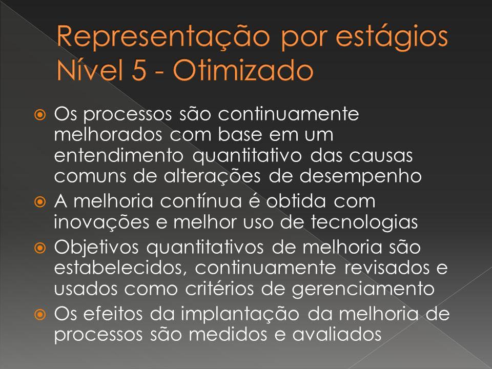 Representação por estágios Nível 5 - Otimizado