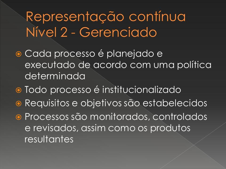 Representação contínua Nível 2 - Gerenciado