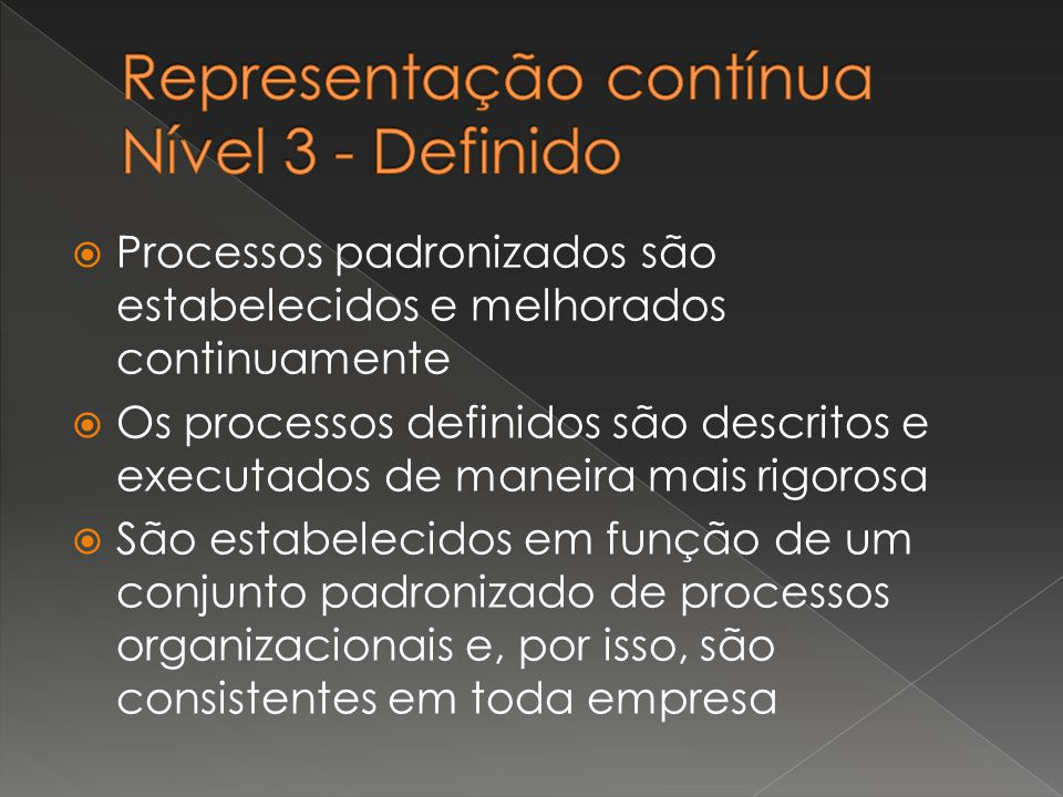 Representação contínua Nível 3 - Definido