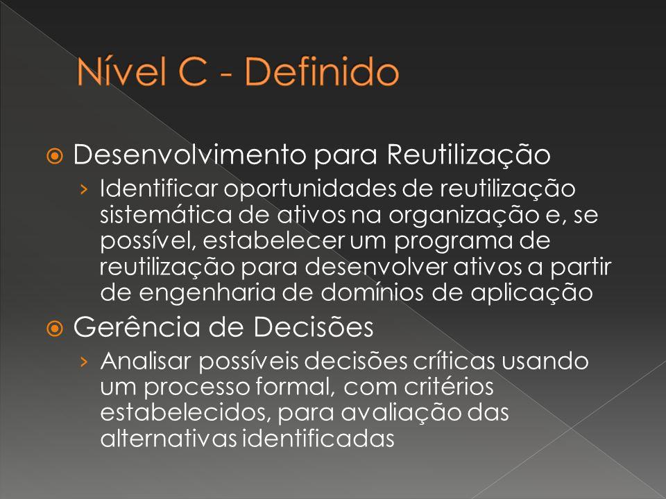 Nível C - Definido Desenvolvimento para Reutilização