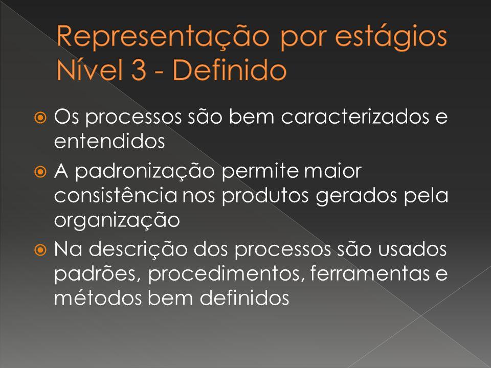 Representação por estágios Nível 3 - Definido
