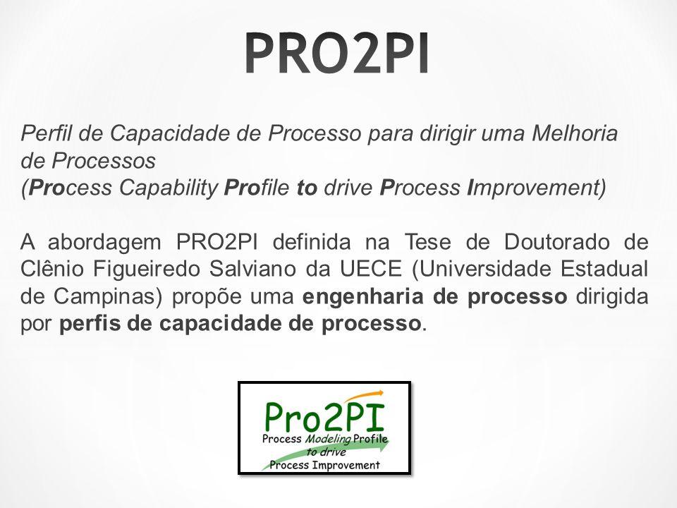PRO2PI Perfil de Capacidade de Processo para dirigir uma Melhoria de Processos (Process Capability Profile to drive Process Improvement)