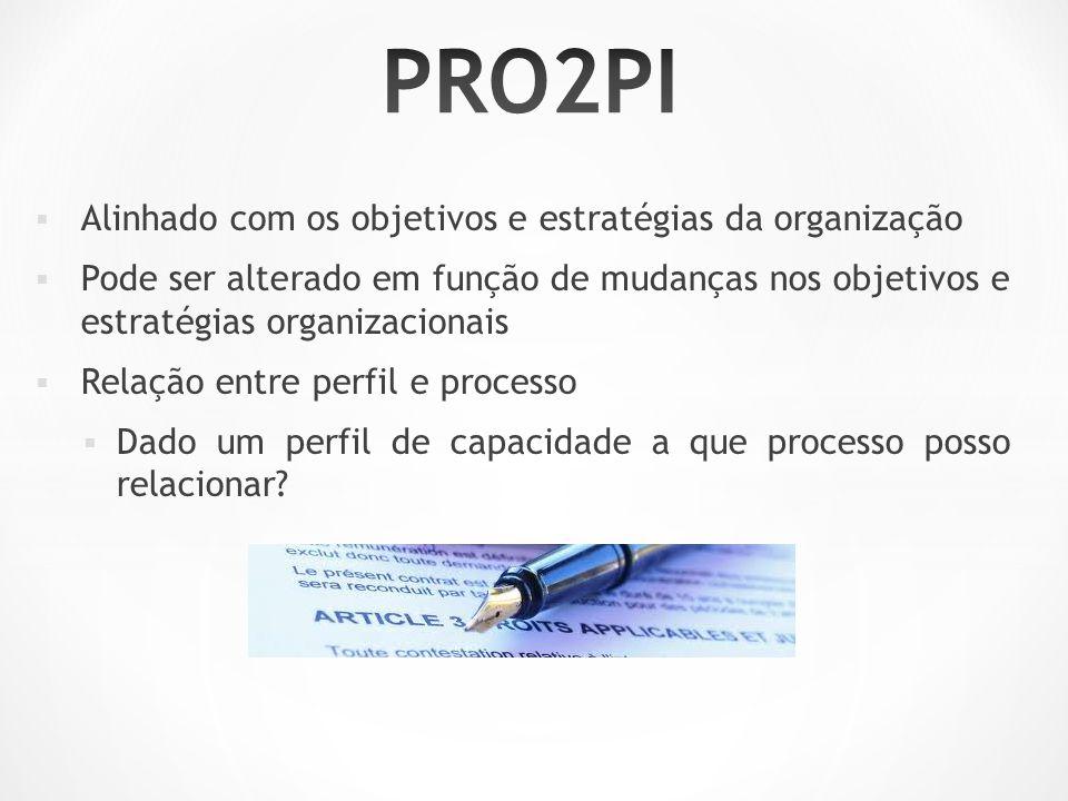 PRO2PI Alinhado com os objetivos e estratégias da organização