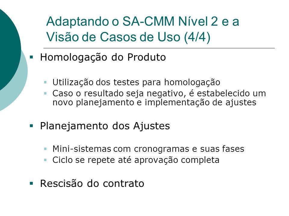 Adaptando o SA-CMM Nível 2 e a Visão de Casos de Uso (4/4)