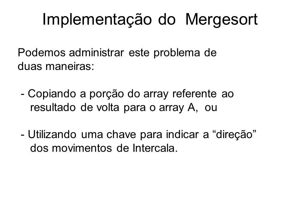 Implementação do Mergesort