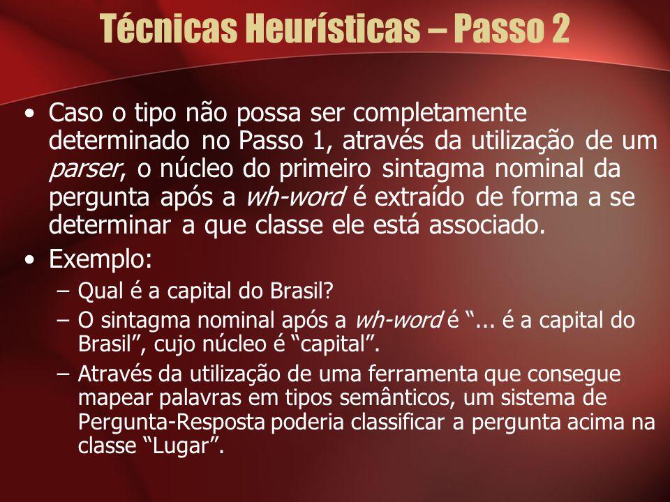 Técnicas Heurísticas – Passo 2
