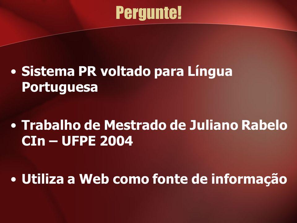 Pergunte! Sistema PR voltado para Língua Portuguesa