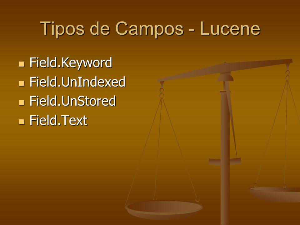 Tipos de Campos - Lucene