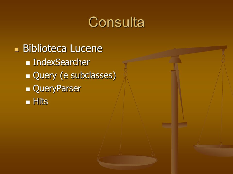 Consulta Biblioteca Lucene IndexSearcher Query (e subclasses)