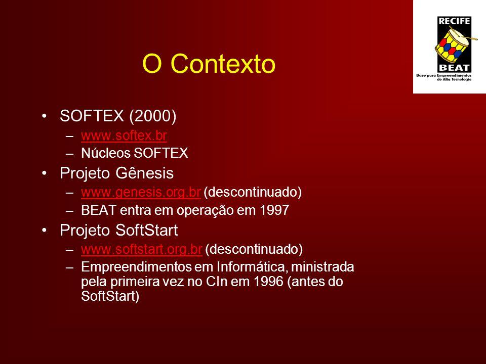 O Contexto SOFTEX (2000) Projeto Gênesis Projeto SoftStart