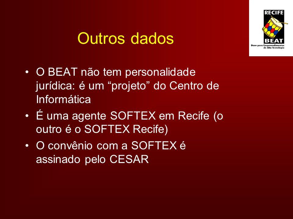 Outros dados O BEAT não tem personalidade jurídica: é um projeto do Centro de Informática.