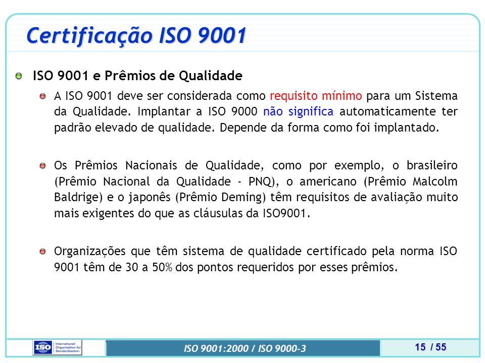 Certificação ISO 9001 ISO 9001 e Prêmios de Qualidade