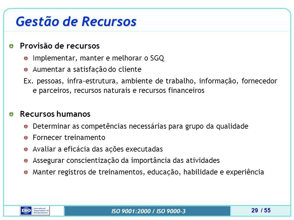 Gestão de Recursos Provisão de recursos Recursos humanos