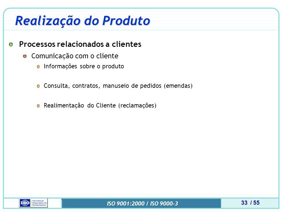 Realização do Produto Processos relacionados a clientes
