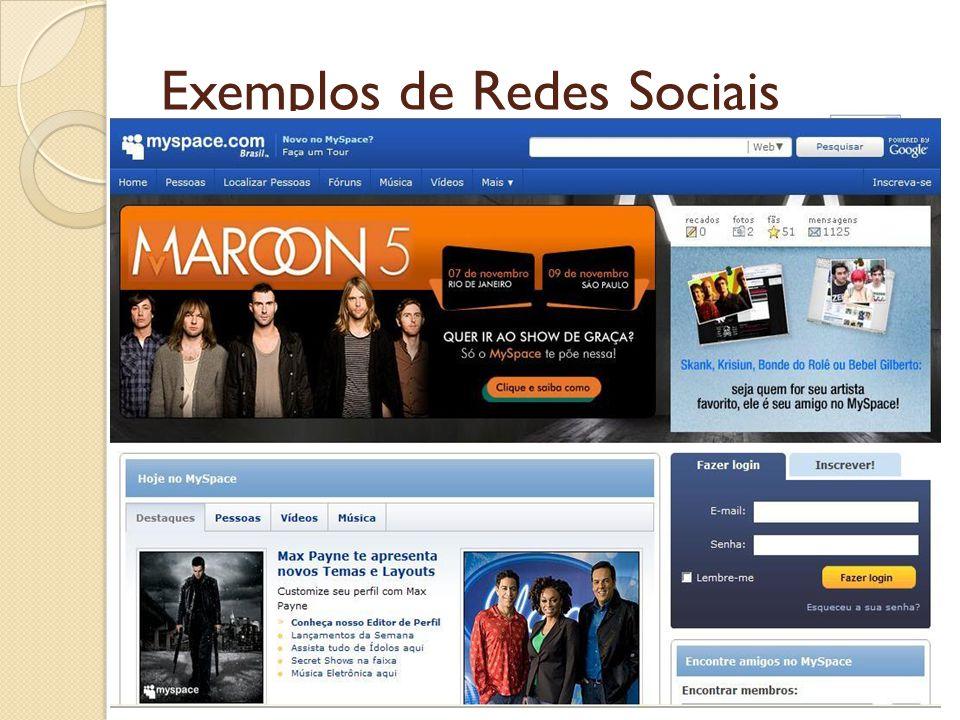 Exemplos de Redes Sociais