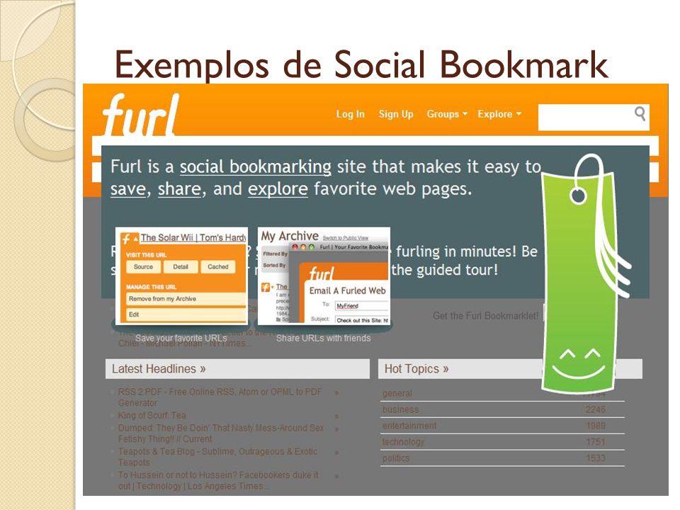 Exemplos de Social Bookmark