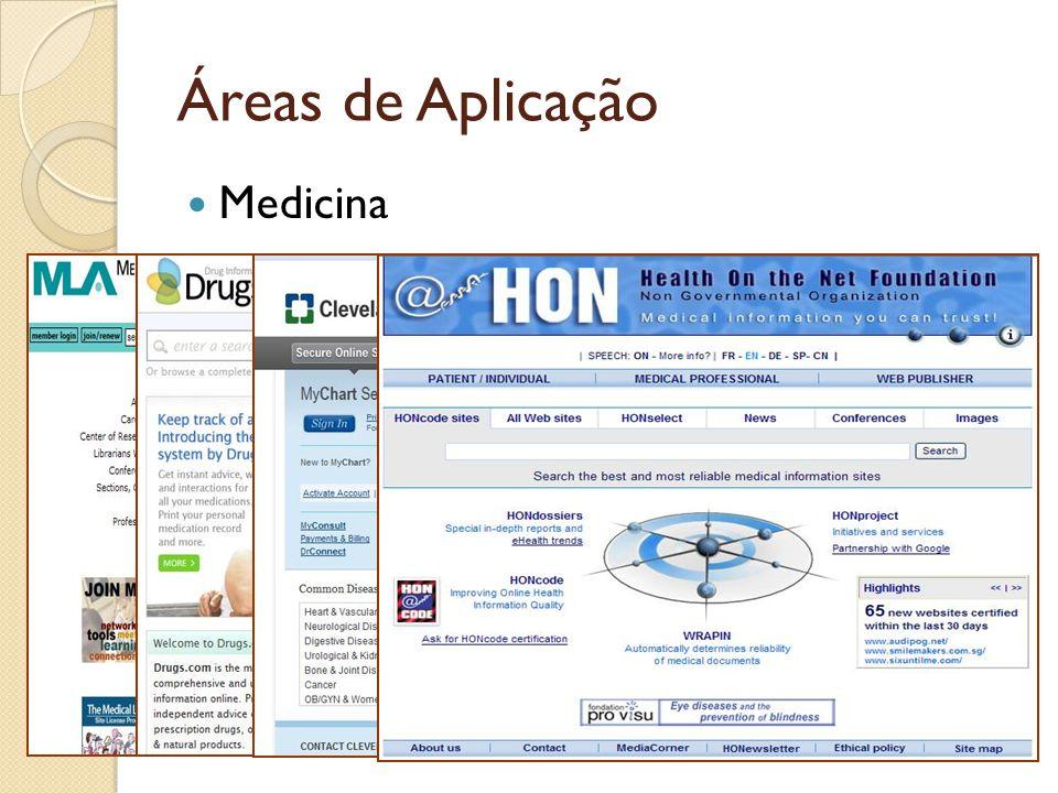 Áreas de Aplicação Medicina