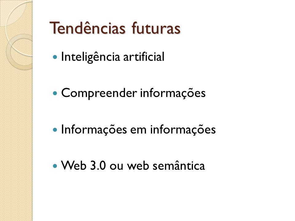 Tendências futuras Inteligência artificial Compreender informações
