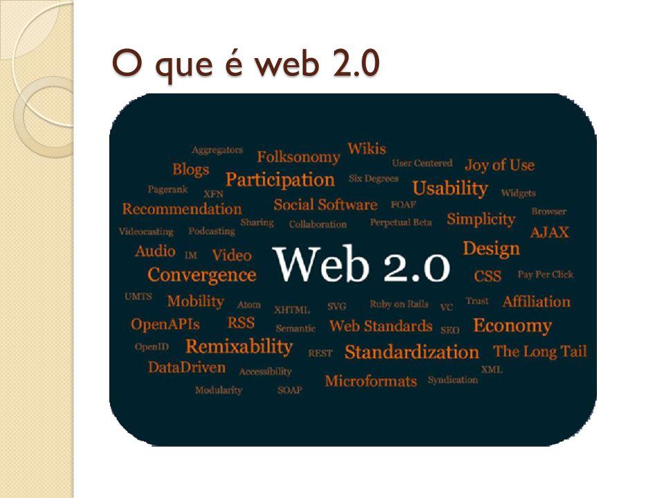 O que é web 2.0 Segunda geração da web Sete princípios