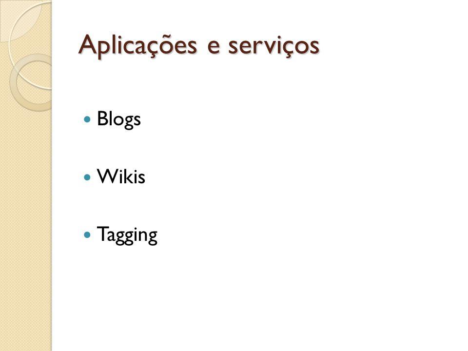 Aplicações e serviços Blogs Wikis Tagging