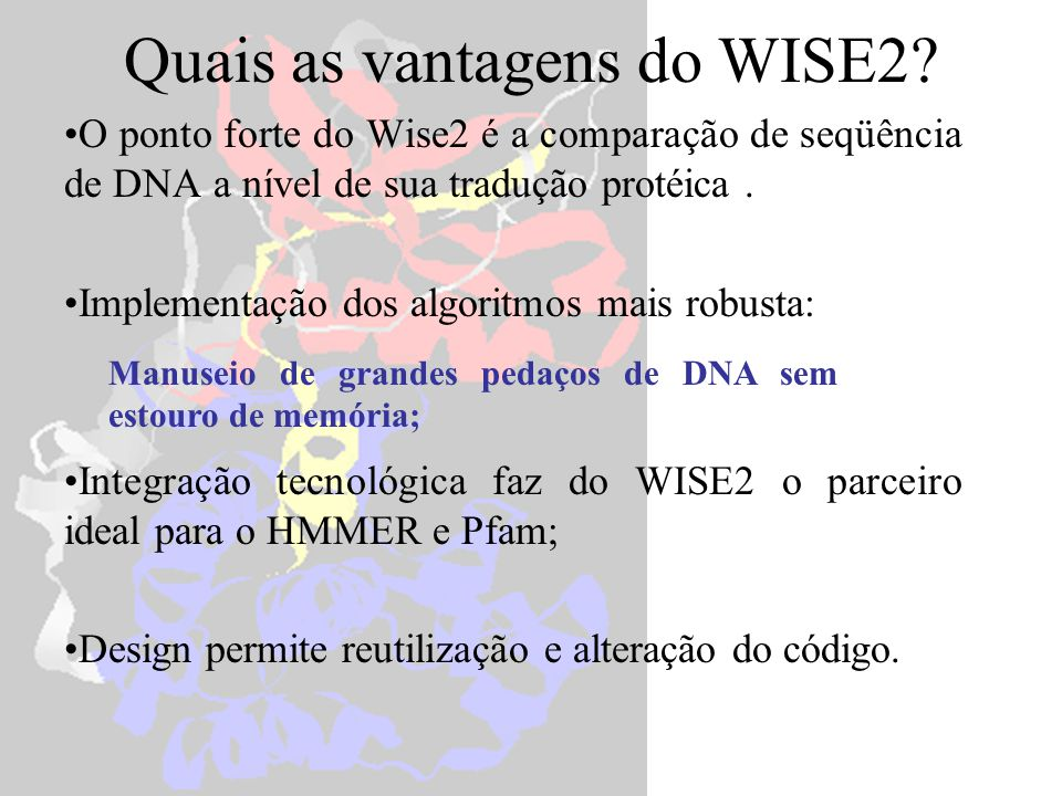 Quais as vantagens do WISE2