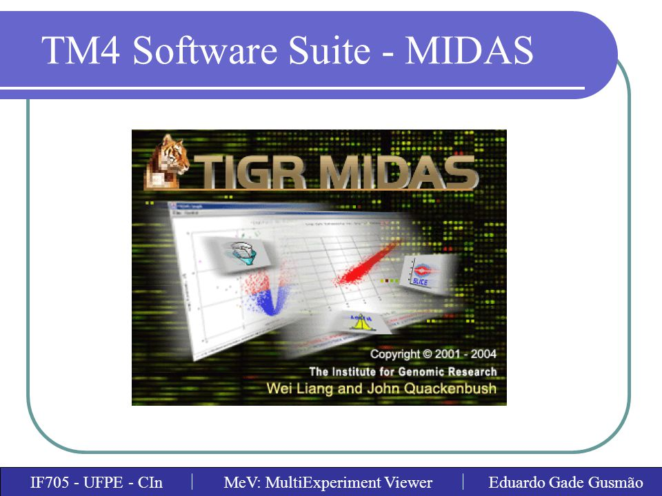 TM4 Software Suite - MIDAS