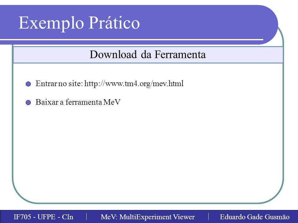 Download da Ferramenta