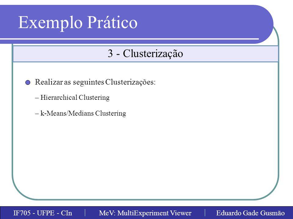 Exemplo Prático 3 - Clusterização