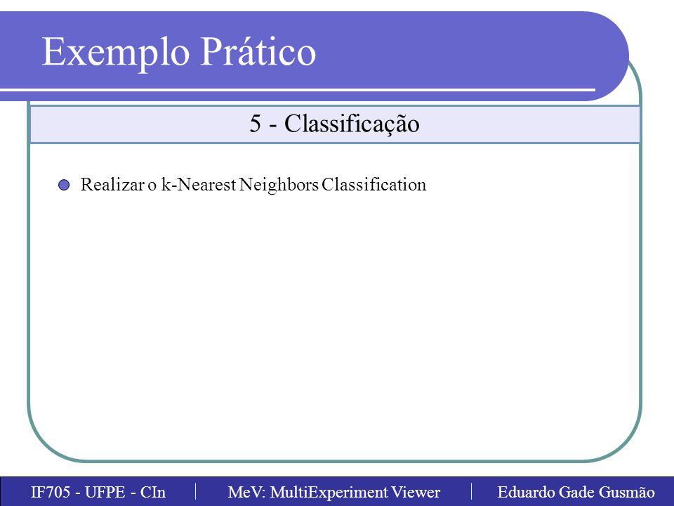 Exemplo Prático 5 - Classificação