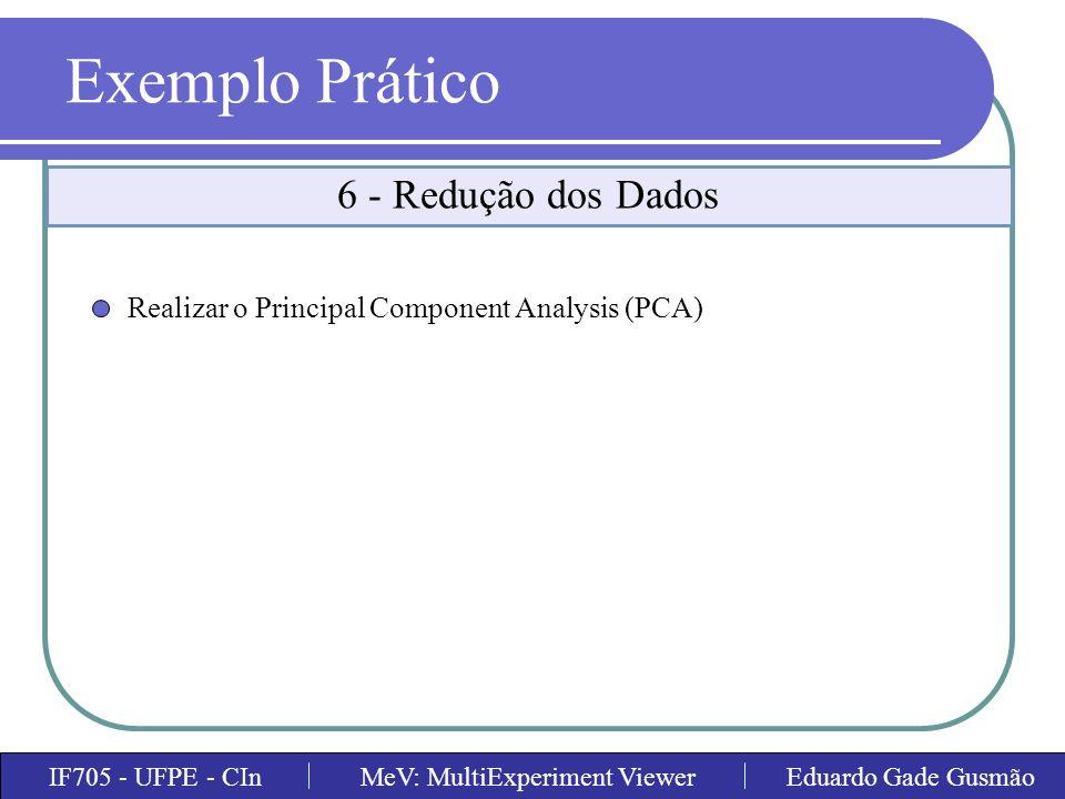 Exemplo Prático 6 - Redução dos Dados