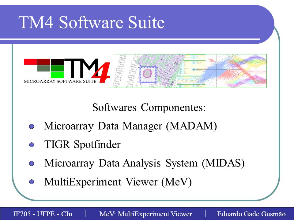TM4 Software Suite Softwares Componentes: