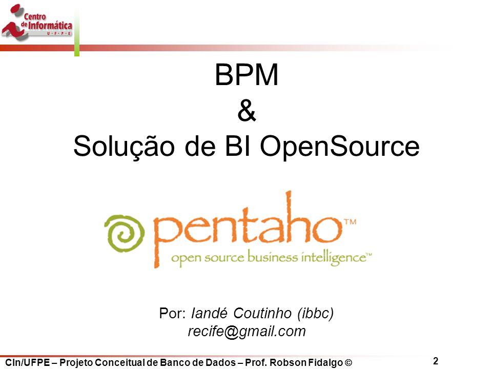 BPM & Solução de BI OpenSource Por: Iandé Coutinho (ibbc)