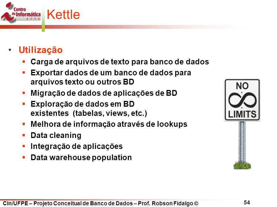 Kettle Utilização Carga de arquivos de texto para banco de dados