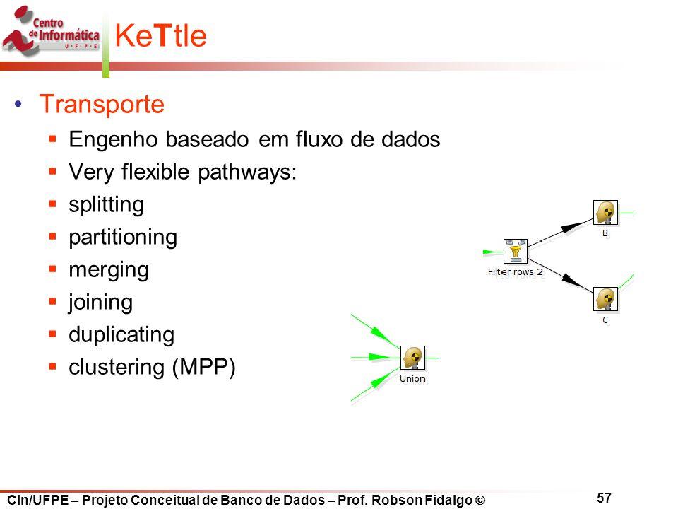 KeTtle Transporte Engenho baseado em fluxo de dados