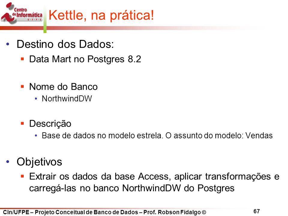 Kettle, na prática! Destino dos Dados: Objetivos