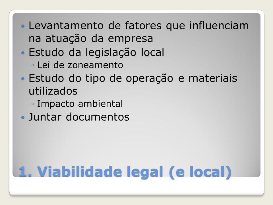1. Viabilidade legal (e local)