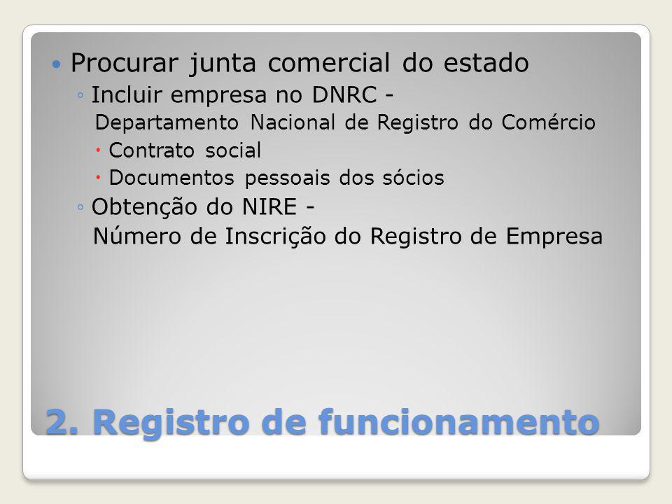2. Registro de funcionamento