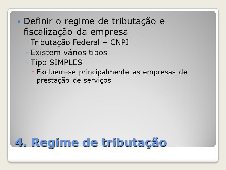 Definir o regime de tributação e fiscalização da empresa