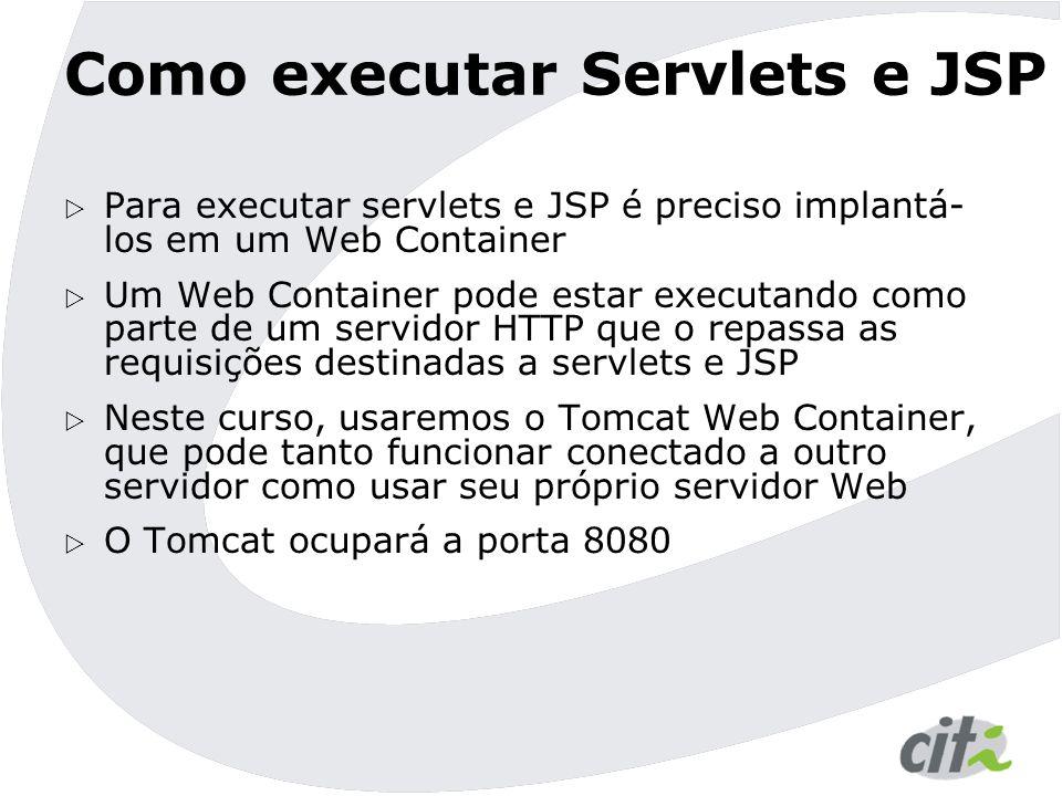 Como executar Servlets e JSP