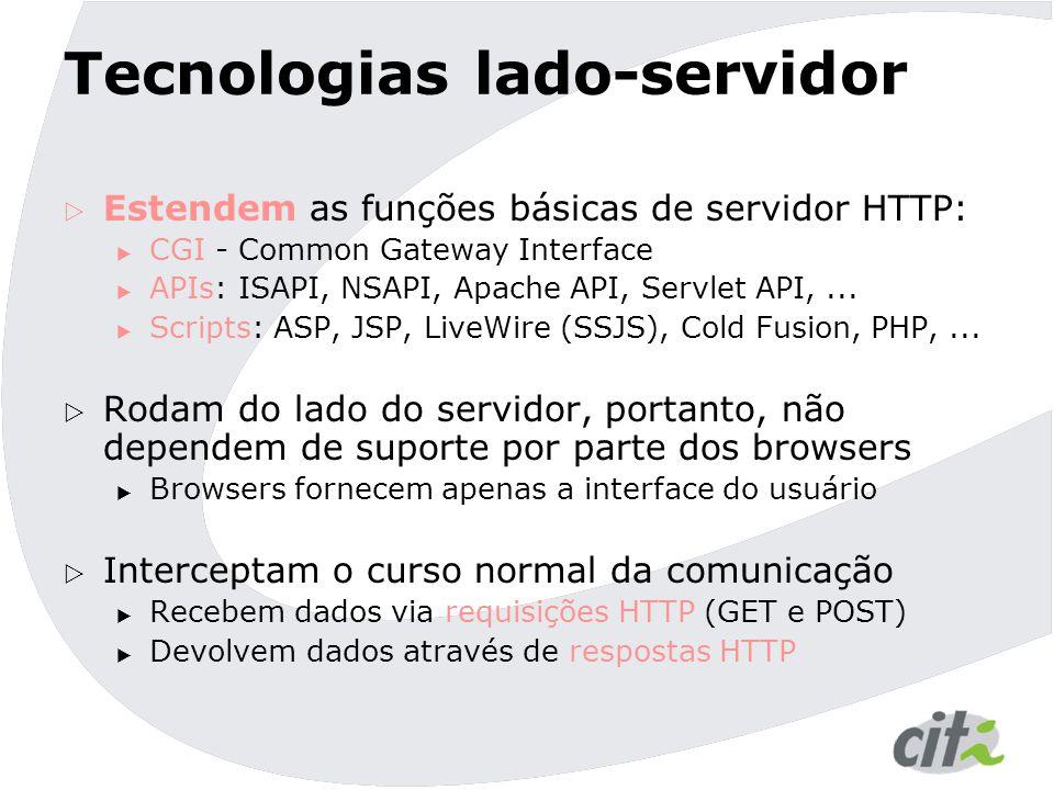 Tecnologias lado-servidor