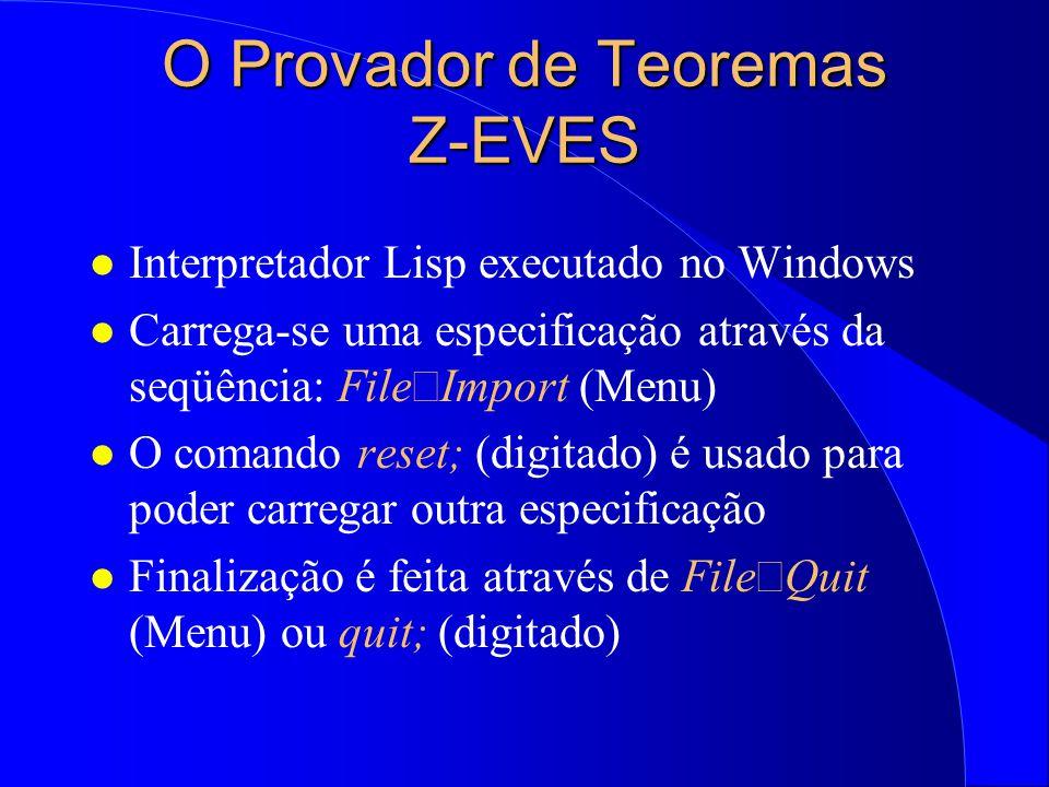 O Provador de Teoremas Z-EVES