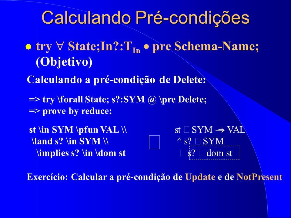 Calculando Pré-condições
