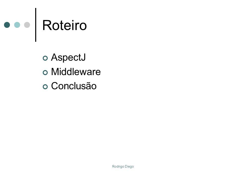 Roteiro AspectJ Middleware Conclusão Rodrigo Diego
